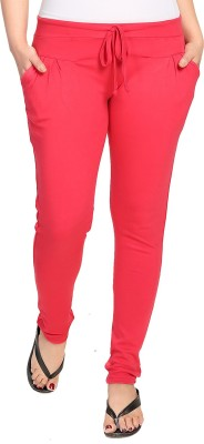 KuuKee Solid Women's Red Track Pants