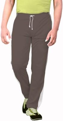 Sportee Solid Men's Brown Track Pants