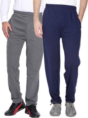 Fizzaro Solid Men's Grey, Blue Track Pants