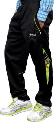 Troos Solid Men's Black Track Pants