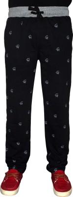 Crux&Hunter Printed Men's Black Track Pants