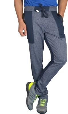 London Eye Self Design Men's Blue Track Pants
