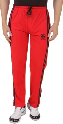 HAP Sports Solid Men's Red Track Pants