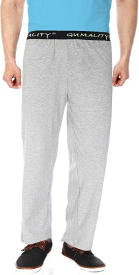 GUMALITY Solid Men's Grey Track Pants