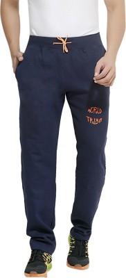 London Bee Solid Men's Dark Blue Track Pants