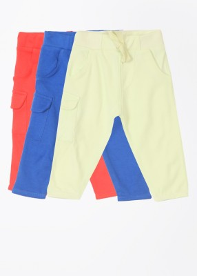 Day 2 Day Solid Baby Boy's Blue, Light Green, Red Track Pants