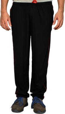 Ave Striped Men's Black Track Pants