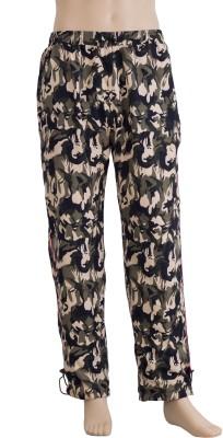Karwan International Printed Men's Green Track Pants