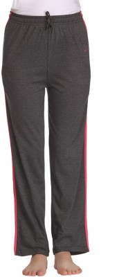 Tryd Pro Solid Women's Grey Track Pants