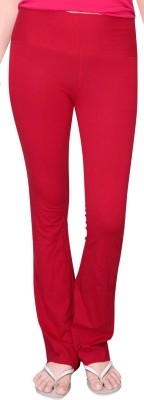 Comfty Solid Women's Red Track Pants