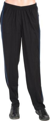Gazelle Solid Men's Black Track Pants