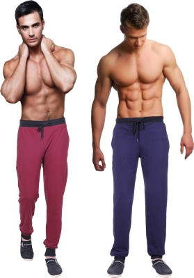 Billu Oye Solid Men's Maroon, Dark Blue Track Pants