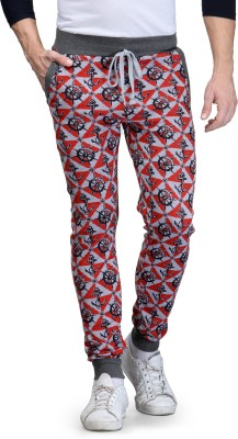 TSX Self Design Men's Red Track Pants