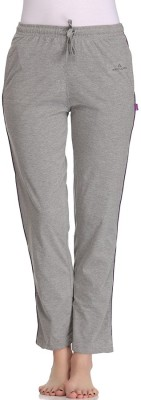 Tryd Pro Striped, Solid Women's Grey Track Pants