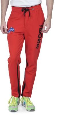 Varo Boss Solid Men's Red Track Pants