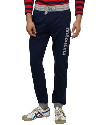 Magnoguy Print Solid Men's Blue, Grey Track Pants