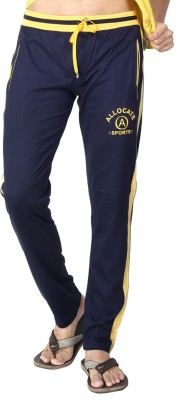 Allocate Solid Men,s Dark Blue, Yellow Track Pants