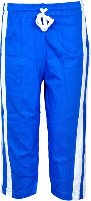 Gee & Bee Solid Boy's Blue Track Pants