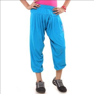 Menthol Fashion Printed Girl's Blue Track Pants