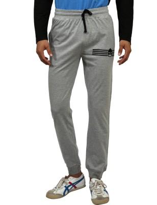 Magnoguy Mascut Print Solid Men's Grey Track Pants
