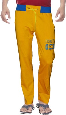 Clickroo Solid Men's Yellow Track Pants