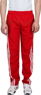Xplore Red Solid Solid Men's Red Track Pants