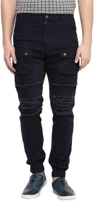 Hypernation Self Design Men's Blue Track Pants