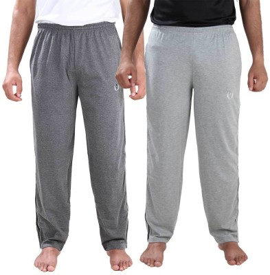Illicit Nation Solid Men's Grey, Grey Track Pants
