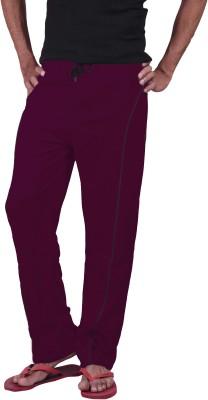 Genx Solid Men's Purple Track Pants