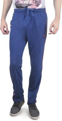 Cayman Fashion Solid Men's Blue Track Pants