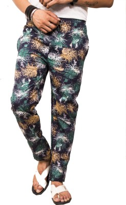 Style In Fashion Printed Men's Green Track Pants