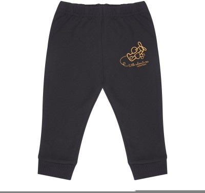 Wow Mom Printed Baby Boy,s Black Track Pants