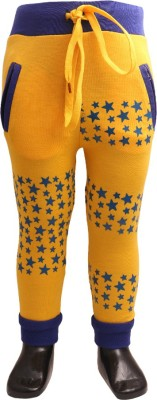 DL EMPORIUM Printed Boy's Yellow Track Pants