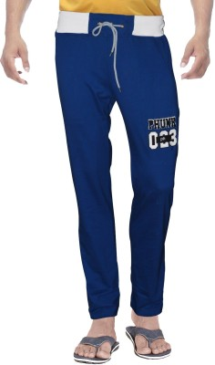 Clickroo Solid Men's Blue Track Pants