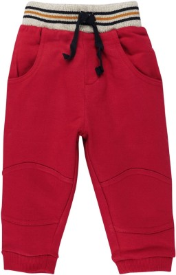 Mom & Me Solid Baby Boy's Red Track Pants