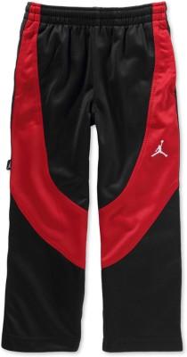 Jordan Kids Solid Boy's Black, Red Track Pants