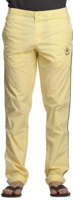 Beevee Solid Men's Yellow Track Pants