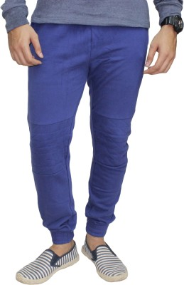 Body Tantrum Solid Men,s Dark Blue Track Pants
