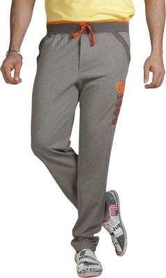 AVOQ-Style Reboot Zipper Pocket Solid Men's Beige, Orange Track Pants
