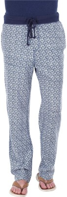 Zobello Printed Men's Blue, White Track Pants
