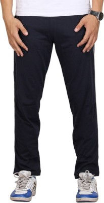 Vego Navy Piping Solid Men's Dark Blue Track Pants