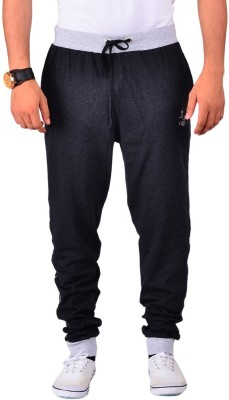 Vego Cotton Cuff Pant Solid Men's Black Track Pants