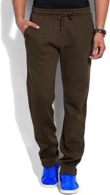 John Players Solid Men's Brown Track Pants