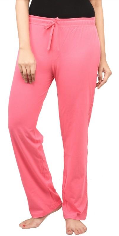 Nite Flite Solid Women's Pink Track Pants