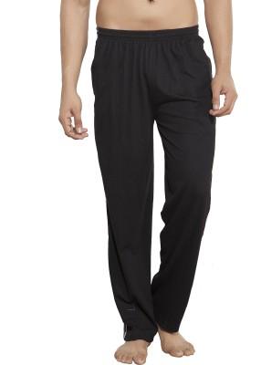 AJC Solid Men's Black Track Pants