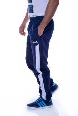 Choice4U Solid Men's Dark Blue, White Track Pants