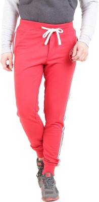 Broken News Printed Men's Red Track Pants