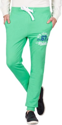 American Swan Solid Men's Green Track Pants