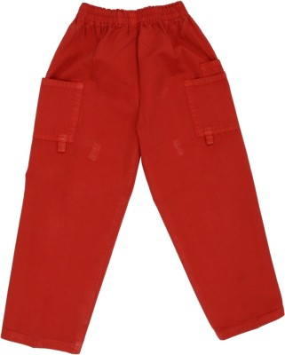 SETVEL Solid Boy's Red Track Pants