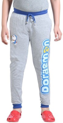 Red Ring Solid Boy's Grey Track Pants